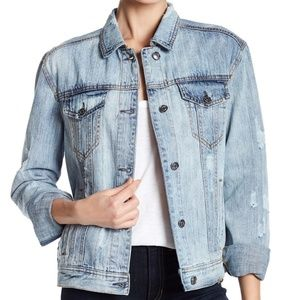 Bagatelle Heritage Embroidered Back Denim Jacket